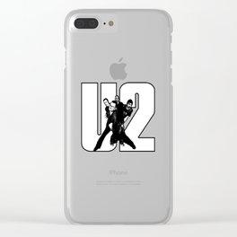 2U2_2 Clear iPhone Case