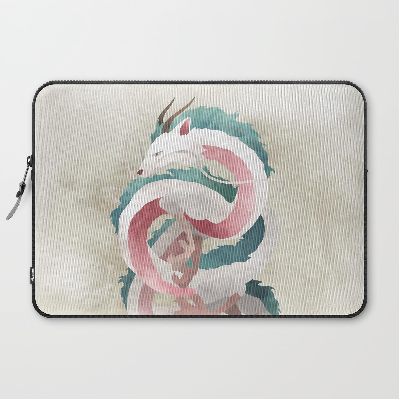 Spirited Away Haku Dragon Illustration Miyazaki Studio Ghibli Laptop Sleeve By Lizasou Society6