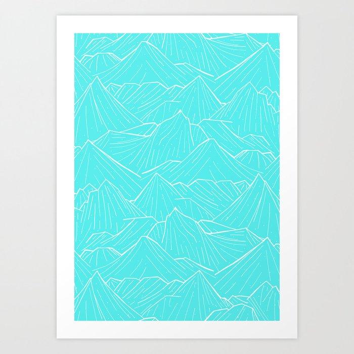 The Cold Blue Art Print