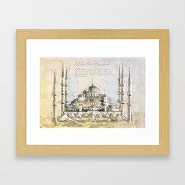 Blue Mosque, Istanbul Turkey Framed Art Print