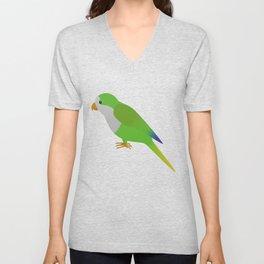 A quaker parrot Unisex V-Neck