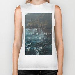 Oregon coast, Pacific Ocean, Pacific Coast, Ocean waves, Water, Blue Waves, Nature, Hipster, Moody Biker Tank