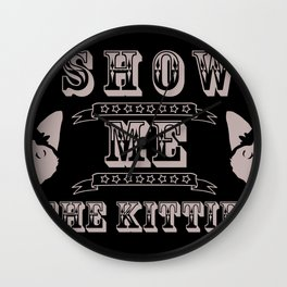 The Kitties Wall Clock