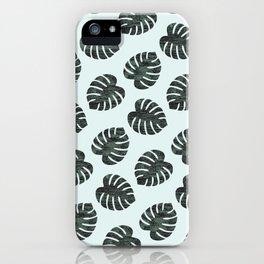 Monstera Pattern iPhone Case