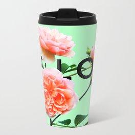 Be Love Roses Metal Travel Mug