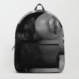 African American Women in black and white Backpack