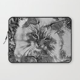 AnimalArtBW_Cat_20170907_by_JAMColorsSpecial Laptop Sleeve