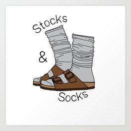 Stocks and Socks Art Print