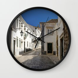 The old town Faro, Algarve, Portugal Wall Clock