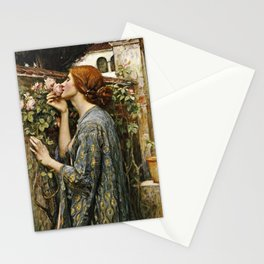 John William Waterhouse - The soul of the rose Stationery Cards