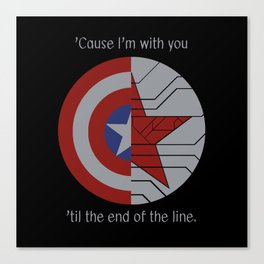 Stucky Shields (With Quote) Canvas Print