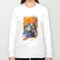 moto Long Sleeve T-shirts featuring Moto Splash by Joshua Meno