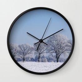 winter walk rural snow landscpape north Germany Wall Clock