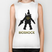 bioshock infinite Biker Tanks featuring Bioshock by Pixel Design