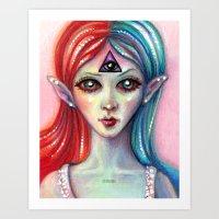 third eye Art Prints featuring Third Eye by Mary Nason (MiaSnow)