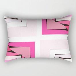 Pink Corners Rectangular Pillow