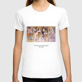 "Alfons Mucha, "" Four Seasons (1895)"" T-shirt"