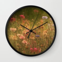 In a Meadow, Painterly Wall Clock