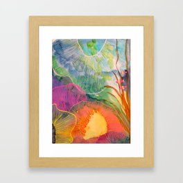Hi Fishies Framed Art Print