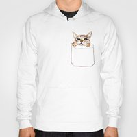 pocket fuel Hoodies featuring Pocket cat by Anna Shell