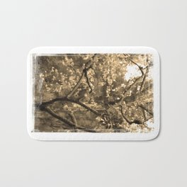 Tree of Hearts - Sepia Bath Mat