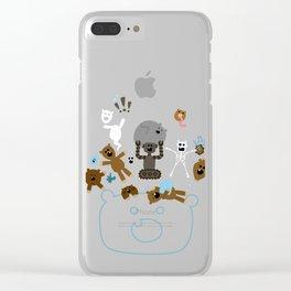 Crazy MonkeyTeddyBears Clear iPhone Case