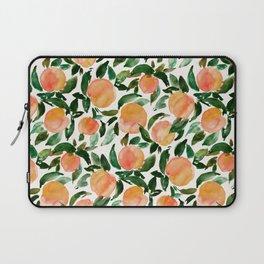 GEORGIA PEACHES Watercolor Peach Print Laptop Sleeve