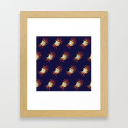 Blue Nautilus pattern Framed Art Print