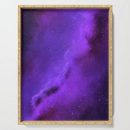 Purple Galaxy Serving Tray
