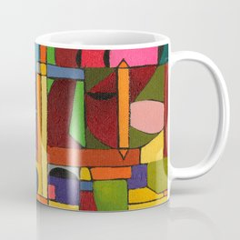 Colors In Collision 1 - Geometric Abstract of Colors that Clash Coffee Mug
