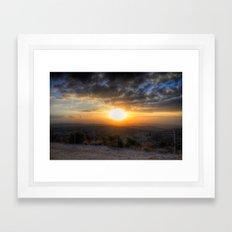 Sunset Over Hezbollah Framed Art Print