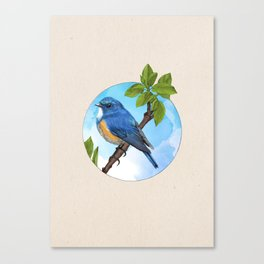 Blue Bird - Into the Woods Canvas Print