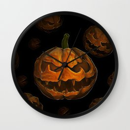 Pumpkin Hallowen Wall Clock