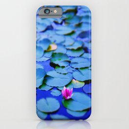 Water lilies in a pond iPhone Case