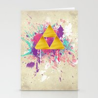 triforce Stationery Cards featuring Splash Triforce by Brittany