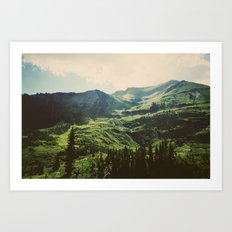 Mountain Side Stream Art Print