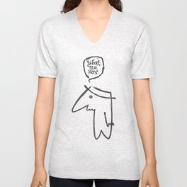 wth? man Unisex V-Neck