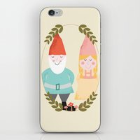 gnome iPhone & iPod Skins featuring Gnome Sweet Gnome by Beth Laird