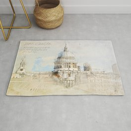 St. Pauls Cathedral,  London England Rug