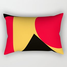 Abstract retro modern print in red black yellow colors Rectangular Pillow