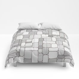 Stone Wall #4 - Grays Comforters