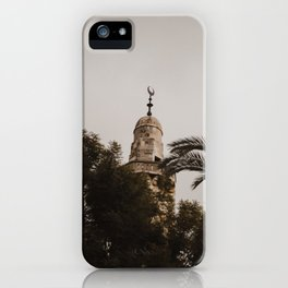 View of the Mosque in Jerusalem, Israel iPhone Case