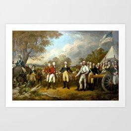 The Surrender of General Burgoyne Art Print