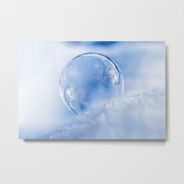 Blue Sky Bubble Metal Print