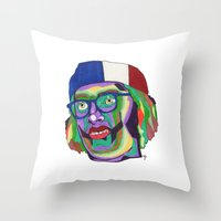 america Throw Pillows featuring America by Masonjohnson