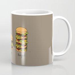Burger explained. Burg. Burger. Burgest. Coffee Mug