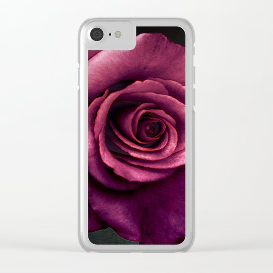 Lilac rose(3) Clear iPhone Case