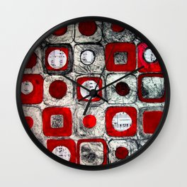 Musicial Squares Wall Clock
