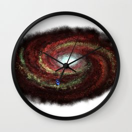 We are here red Wall Clock