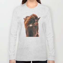 Horse Head Long Sleeve T-shirt